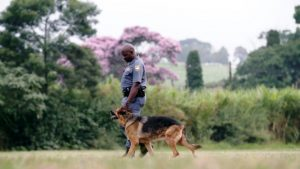 Max with Sergeant Kumalo